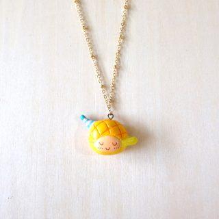 菠蘿油妹妹項鍊